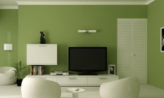 绿色电视墙效果图
