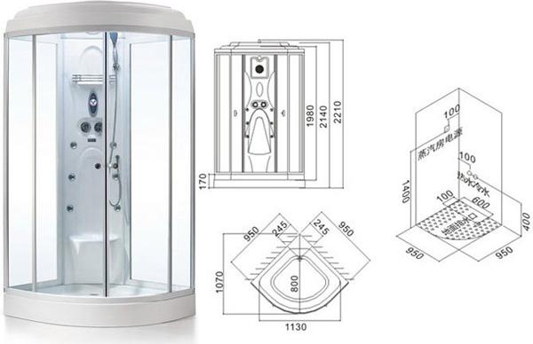 浅析淋浴房的尺寸和计价方式