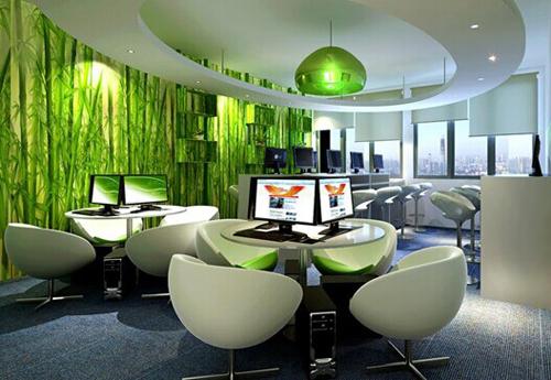 在办公室装修设计之初就应该做好布局规划