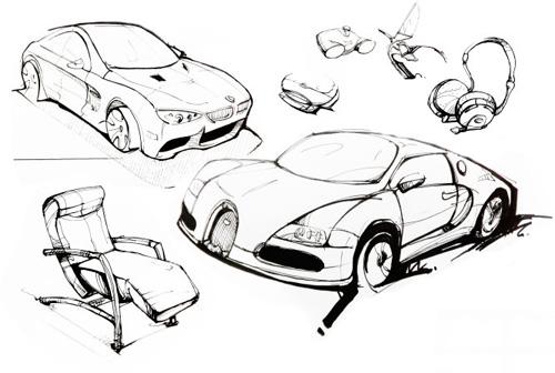 手绘与工业设计 -设计中国
