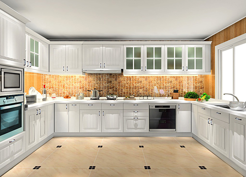现代欧式风格橱柜,在每个细节处的设计都彰显出永恒的完美品质以及独