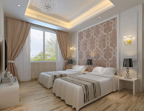 卧室装修【面积:12平方米以上~30平方米】   卧室里的家具不外