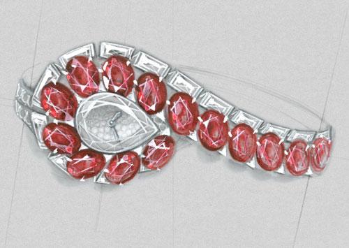 TRAIT D'ÉCLAT高级珠宝腕表:烈焰光芒,柔美风情