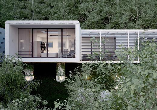 乌克兰克里米亚森林里小屋设计