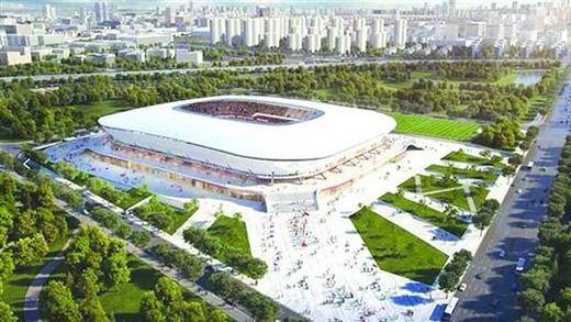 上港新主场效果图亮相 目标打造世界最先进球场