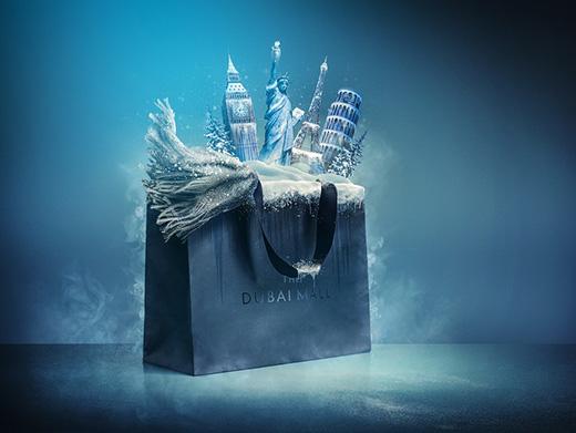 迪拜购物中心冬季海报设计