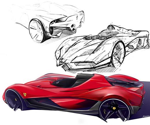 法拉利 Xezri 概念车1600px模型图