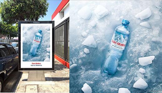 San Mateo矿泉水三款海报设计