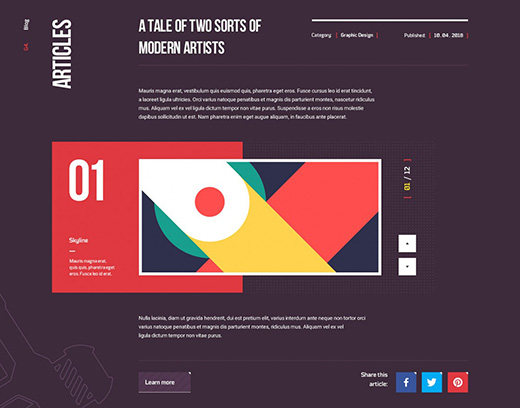 3D版的网站设计作品
