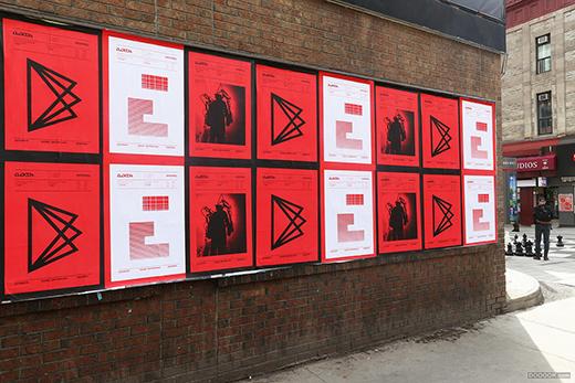 第三届国际数字艺术双年展宣传黑红画册海报设计