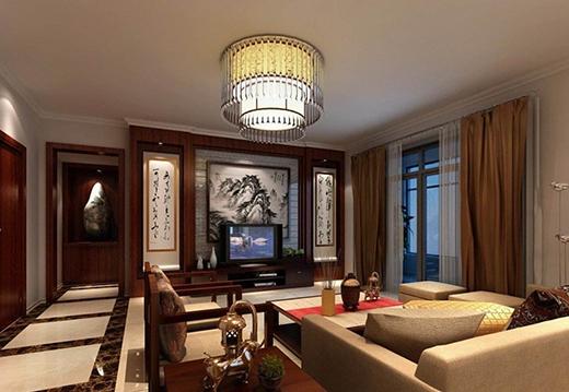 电视背景墙设计,中式装修风格的就是有内涵