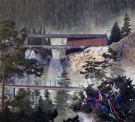 Silver Mountain银山上的房子
