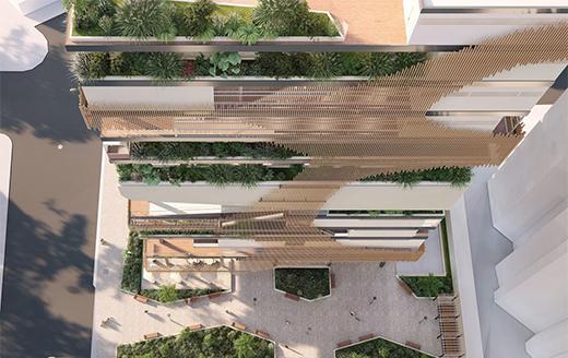 BARU商业大厦新型植物整合建筑设计