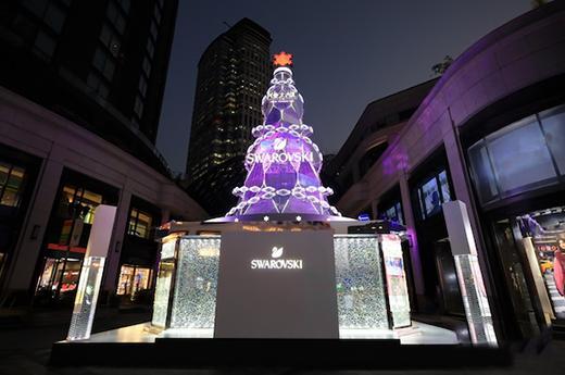 2018施华洛世奇「璀璨圣诞树」携手郑恺 开启沪上亮灯仪式