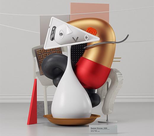 抽象派艺术雕塑