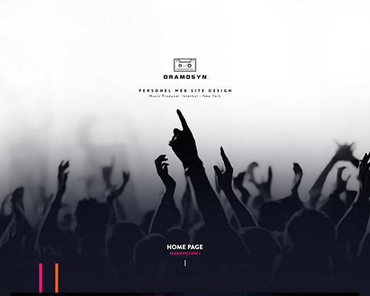 网站设计-重金属音乐