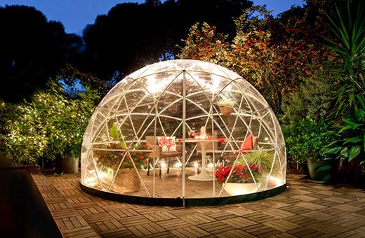 你的花园是全年防风雨的冰屋
