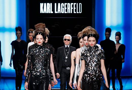 三大品牌联合为时装设计大师 Karl Lagerfeld 举办纪念活动