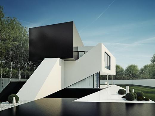 NOWAK多套欧式简洁几何体私人别墅会所设计