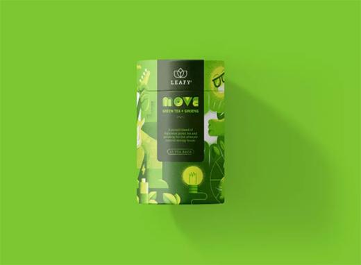 清香怡人的花茶品牌包装设计