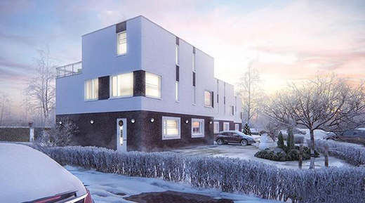 ZINGVR国外优秀建筑设计作品:冬季印象黄昏|CGI