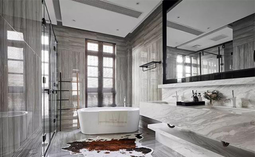 法式合院别墅装修设计二层卧室空间