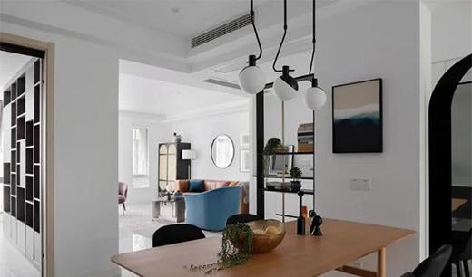 装修设计:123平舒适宜居现代混搭三室