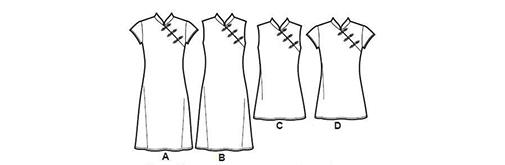 中国风旗袍裙,设计独特有韵味,简单优雅有一种知性的感觉