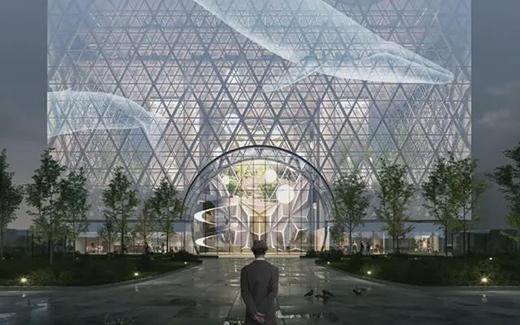 唐山新地标!让光穿过建筑——唐山凤凰新城综合体